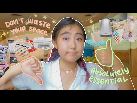 the ultimate dorm packing guide // what to bring & what to leave at home