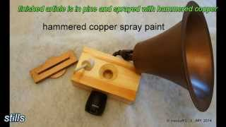 copper hammered spray painted amplifier horn