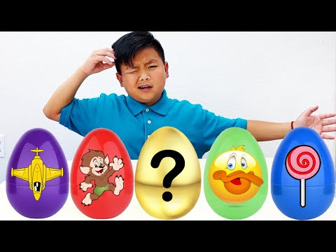 Alex Pretend Play with Color Surprise Egg Duck Hunt | Learn Colors and Helps His Animal Friend |
