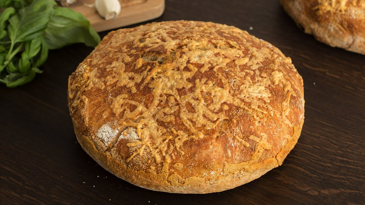 No-Knead Cheese Bread Recipe