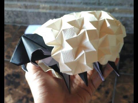 origami sheep (beth johnson) part 2  sheep coat tutorial