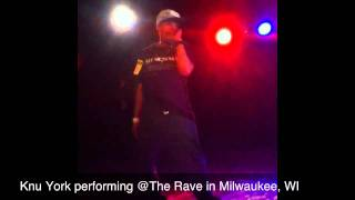 Knu York performing @The Rave opening up for Tech N9ne.