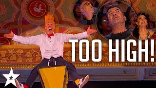 Bello Nock Makes The Whole Audience Nervous! | America's Got Talent 2017