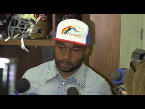 Antoine Bethea gets tense with reporters following loss to Saints