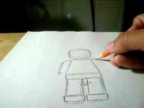 como dibujar un lego - YouTube