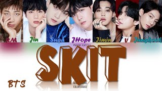 Gambar cover BTS (방탄소년단) - SKIT Lyrics (Color Coded Han|Rom|Eng)