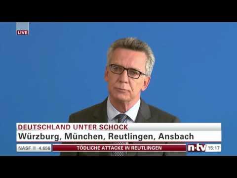 Erhöhte Terrorgefahr durch Flüchtlinge? | Pressekonferenz Bundes-Innenminister | 25/07/2016