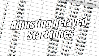 Bet Angel - Changing start times for delayed events