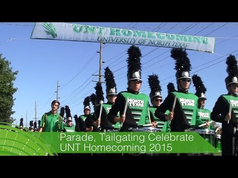 Memory Making: UNT 2015 Homecoming Parade and Tailgating