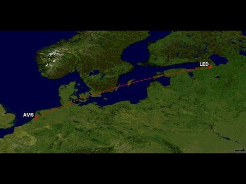 Takeoff/landing Boeing 737 Amsterdam to St. Petersburg Delta DL9443/KLM KL1395