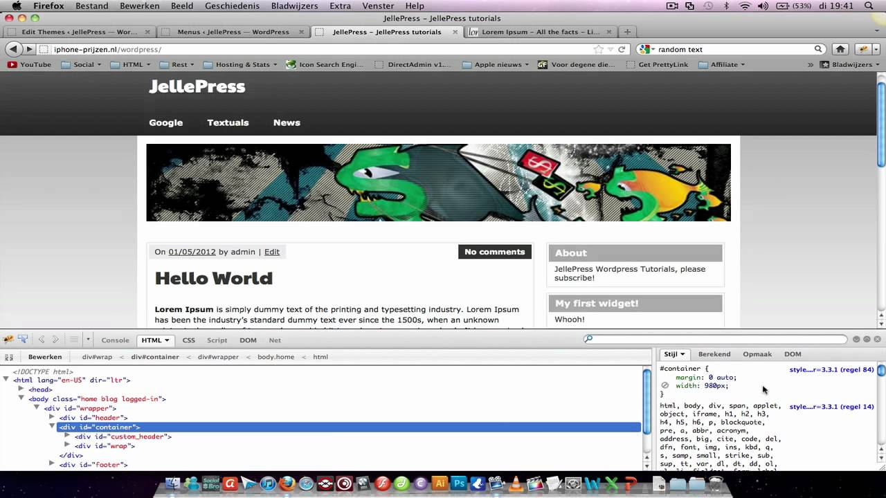 How to put space between header and content wordpress - Div id header ...
