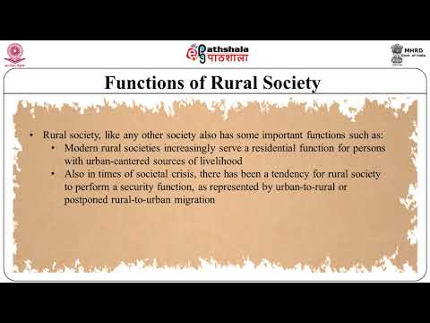 Ageing in Rural and Tribal Society