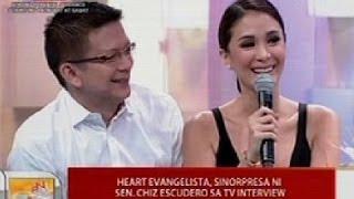 UB: Heart Evangelista, sinorpresa ni Sen. Chiz Escudero sa TV interview