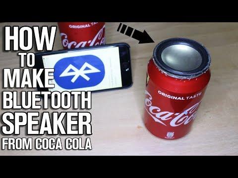 Homemade Bluetooth Speaker from Coca Cola