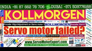 Kollmorgen Repair Servo drive alarms, errors,testing troubleshooting,Repair noisy servo motor