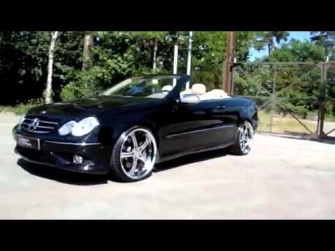 Matte Black Mercedes W209 Clk 500 With Mec Wheels Lowered