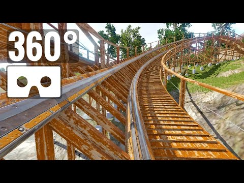 [360° Video] Wooden Coaster 360 Degree Virtual Reality Oculus Go & Samsung Gear VR Box