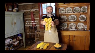 How to dye yarn with Marigold