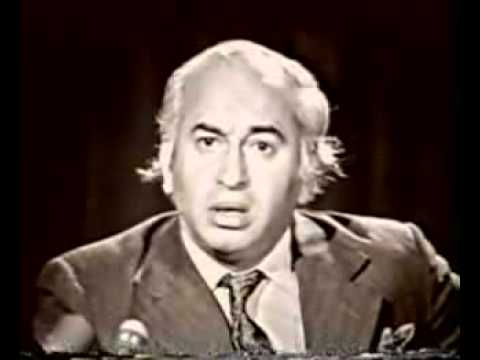 Zulfiqar Ali Bhutto TV speech