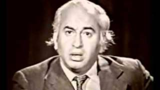 Zulfiqar Ali Bhutto TV speech