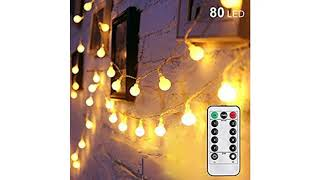 Holiday Light Review 2018! Twinkle Star 100 LED 49 FT Star String Lights, Plug in Fairy String Li..