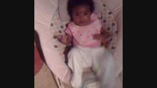 baby amaliyah at 4 months doing the stanky leg