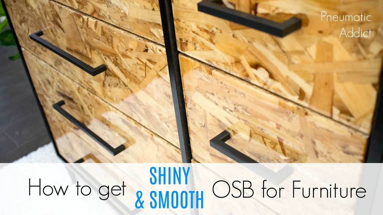 How to get shiny smooth osb for furniture youtube for How to make your floor shiny