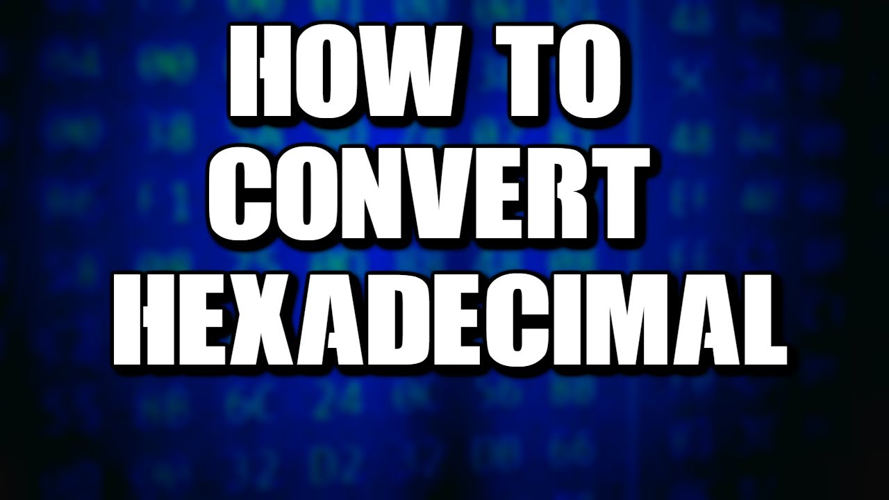 Binary and hexidecimal conversion tutorial | asm, rockville.