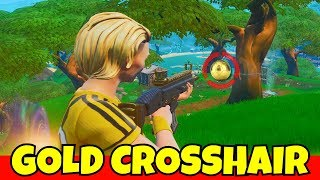 i used a GOLD SOCCER SKIN CROSSHAIR in fortnite.... (ban this?)