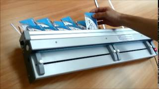 Electric Exchangeable Blade Paper Cutter cutting A4 paper for borderless business cards