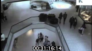 1980s Los Angeles Beverly Center Mall and Cineplex Cinema