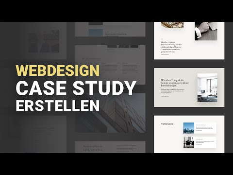 Eine Design Case Study Erstellen - Website Portfolio Aufbauen