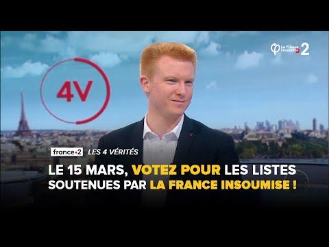 Ce dimanche 15 mars, votez pour les listes soutenues par La France Insoumise !   Adrien Quatennens