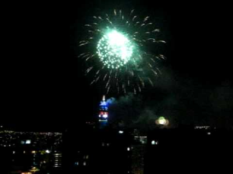 Santiago de Chile Fireworks from the Entel Tower
