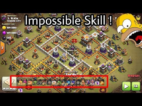 WTF War😂😂 Barbarian Archer Impossible Destroy 3 star Th11ax