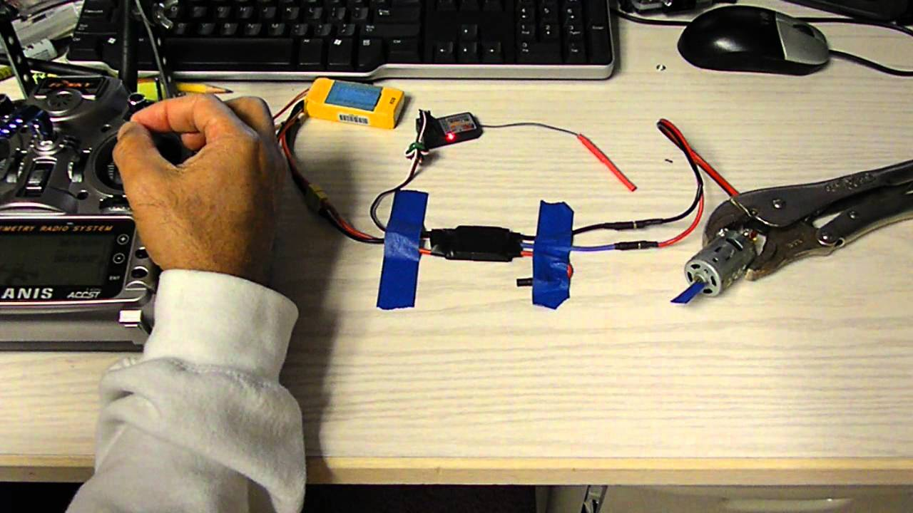 Brushless To Brushed Esc Conversion With Reverse Fully 30a Motor Speed Controller Rc For Quadcopter Airplane Proportional Youtube