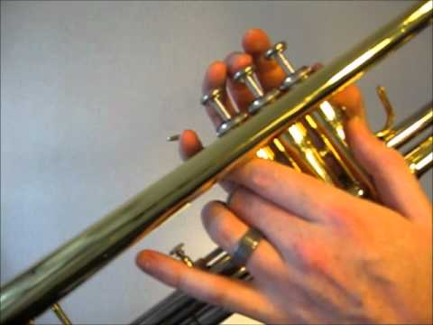 Learn to play C major scale on trumpet - YouTube