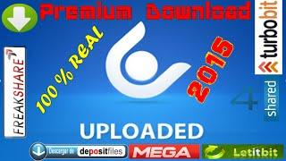 Descargar archivos de Uploaded + letitbit + rapidshare + 4shared + depositfiles+ FULL Premium 2015