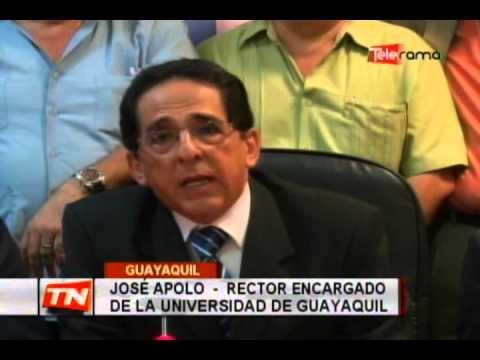 José Apolo asumió rectorado de universidad de Guayaquil de manera temporal