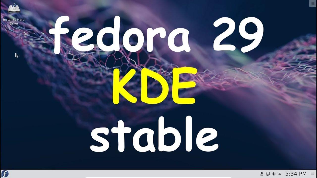 Fedora 29 KDE