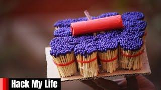 5000 matchstick vs firecracker (Explosive experiment)