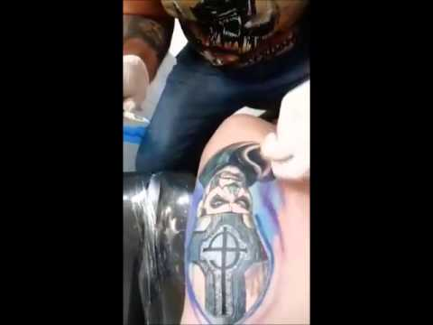 ghost BC tattoo realismo #ghostBC - YouTube