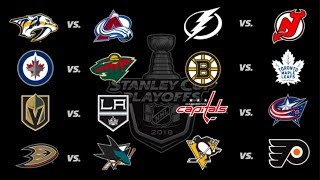 2018 Stanley Cup Playoffs - All Goals - Round 1