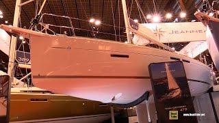 2017 Jeanneau Sun Odyssey 419 Yacht - Deck and Interior Walkaround - 2016 Salon Nautique Paris