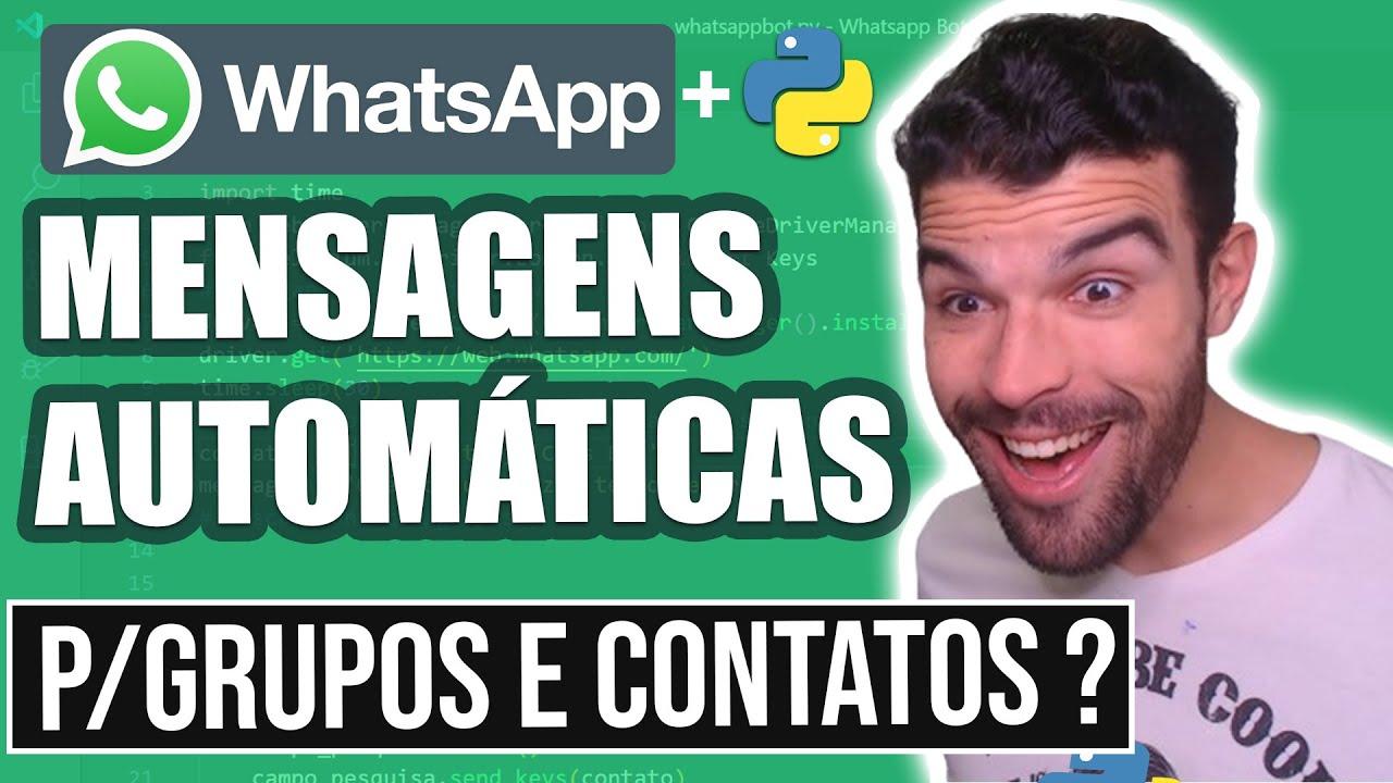 Como Criar Um Bot(Robô) No Whatsapp de mensagens P/ Grupos e Contatos