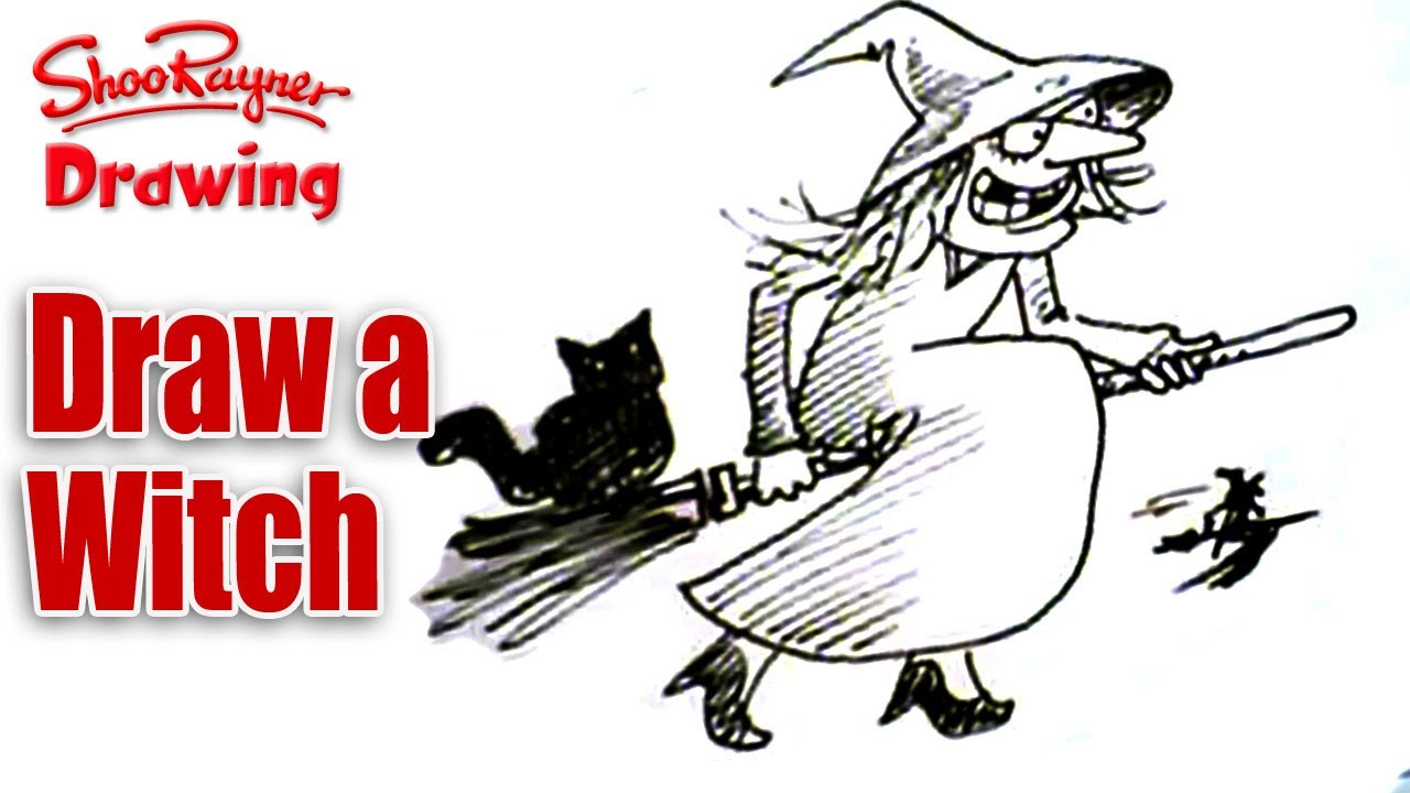 draw a witch for halloween spoken tutorial youtube