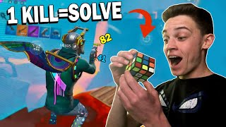Solving a RUBIK'S CUBE with every ELIMINATION I Get on Fortnite Mobile!