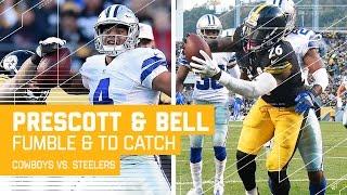 Prescott's Fumble Sets Up Big Ben's TD Pass to Bell!   Cowboys vs. Steelers   NFL
