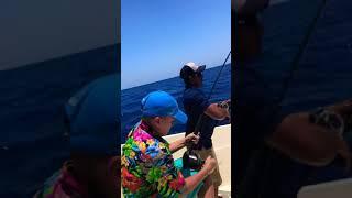 Kaden catches a Dolphin Fish 2018