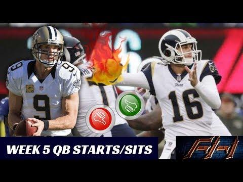 2018 Fantasy Football Lineup Advice  - Week 5 QB\'s Start/Sit Episode